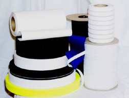 Knitted White & Black Elastic